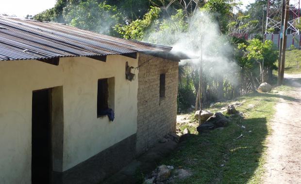 Casa con mucho humo. Ceguaca, 2009