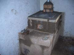 El cemento necesita secarse para que la estufa pueda ser utilizada al día siguiente.