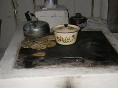 Tortillas sobrantes en esta estufa.