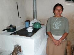 Un beneficiario en Nuevo Celilac.