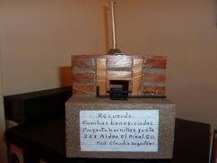 Estufa modelo donada por el Prof. Sagastume de la comunidad de El Pinal.