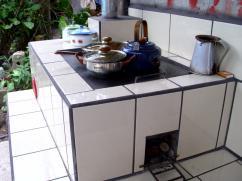 El orgullo de la cocinera se refleja en esta estufa.