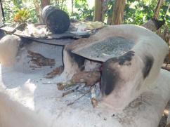 Doble estufa, doble humo, calor y uso de la leña.