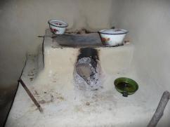 Un lugar difícil para cocinar una comida.