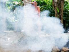 Un fogón tradicional produce mucho humo.